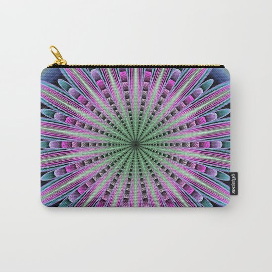 Artistic fantasy flower mandala Carry-All Pouch