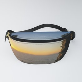 SUNSET AT TINTAGEL CASTLE CORNWALL Fanny Pack