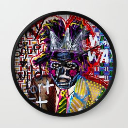 Jean-Michel Basquiat Wall Clock
