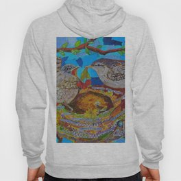 Two Birds In Colorful Nest With Quotes About Wrens Hoody