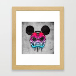 Evil Mickey Framed Art Print