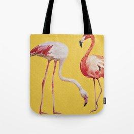 Bold Flamingo Caribbean and Tropical inspired design Tote Bag
