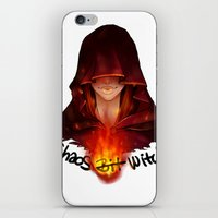 dark souls iPhone & iPod Skins featuring Dark Souls - Chaos Witch Quelana by Vivid-K