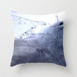 Tiny Snowflakes on Ice Throw Pillow