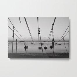 Boat Lines Metal Print