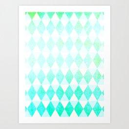 Spring Triangles Art Print