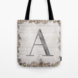 Neutral Monogram - A Tote Bag