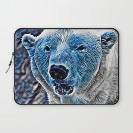 BLUE - Polar Baer Laptop Sleeve