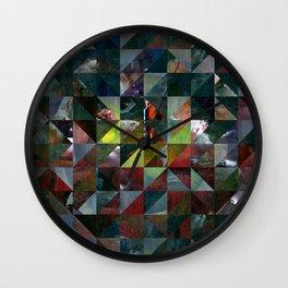 Colour Crystallization #3 Wall Clock