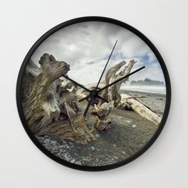 Driftwood on Rialto Beach No 0163 Wall Clock