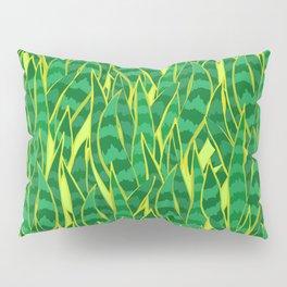 Snake Plant Jungle Pattern Pillow Sham