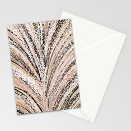 Rose Gold and Glitter Brushstroke Bursts Stationery Cards