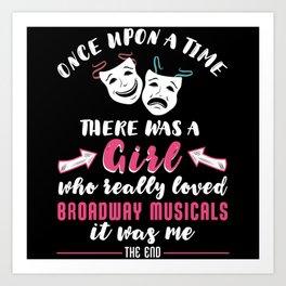 Broadway Musical Girl Art Print