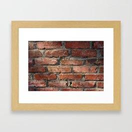 Brick v2 Framed Art Print
