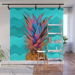 Colorful Pineapple, Ananas fruit Wall Mural
