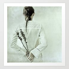 The contemplation of the hours. Art Print