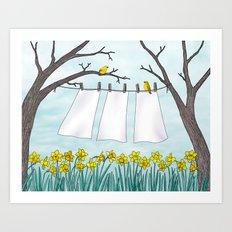 spring clean Art Print