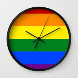 LGBT Gay Pride Rainbow Flag Wall Clock