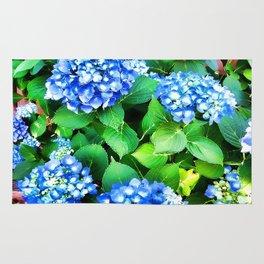 Spring In The Air - Blue Hydrangea Rug