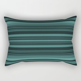 elegant stripes in teal and mint Rectangular Pillow