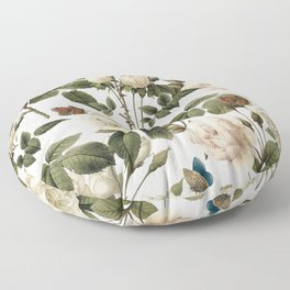 ROSES AND BUTTERFLIES 2 Floor Pillow