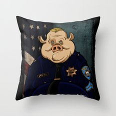 Officer Peel, Public Servant Throw Pillow