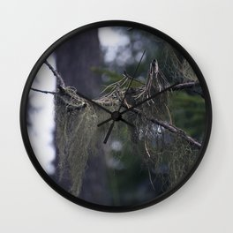 Usnea Wall Clock
