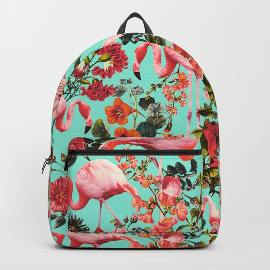 Floral and Flemingo IV Pattern Backpack