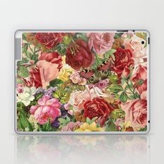 Vintage Retro flower pattern old fashioned Laptop & iPad Skin