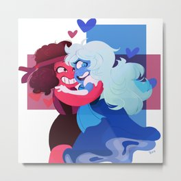 Ruby and Saphire Metal Print