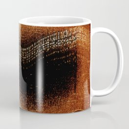 Amber Northern Lights | Abstract Nature Landscape Coffee Mug