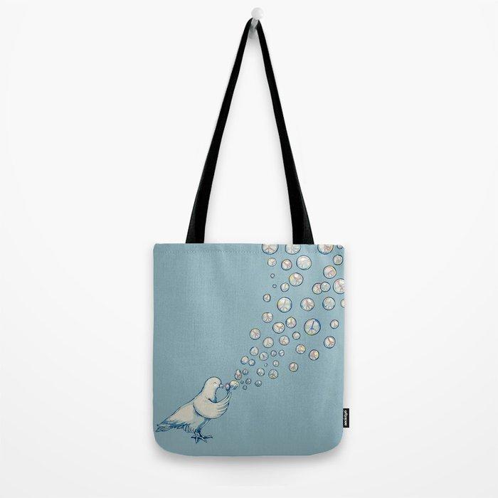 Bubbles Peace Tote Bag