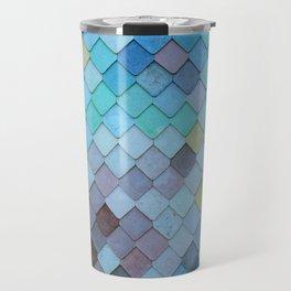 Blue Tiles (Color) Travel Mug