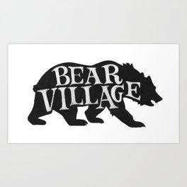 Bear Village - Grizzly Art Print
