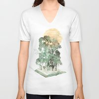 david V-neck T-shirts featuring Jungle Book by David Fleck