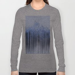 Shredded Abstract in Blue Long Sleeve T-shirt