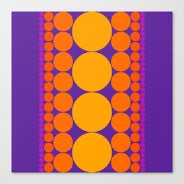 Purple Dots Canvas Print