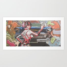 Modesty with Chev 2 Art Print