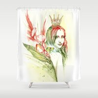 princess Shower Curtains featuring Princess by Veronika Neto