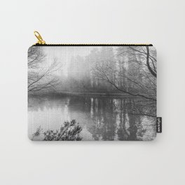 Misty Mallards Pike in Monochrome Carry-All Pouch