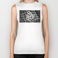 cigarettes Biker Tanks featuring Coffee and Cigarettes by Aleksandra Kabakova