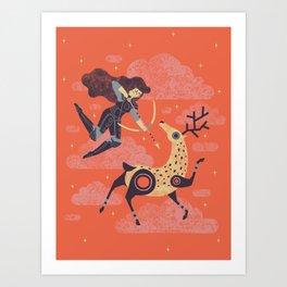 The Huntress Art Print
