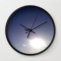 plane Wall Clocks featuring Plane by Natasha N. Walker