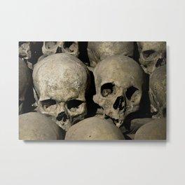 skulls couple Metal Print