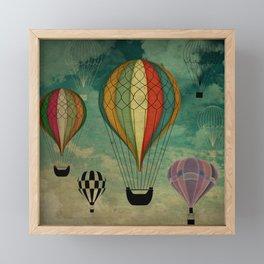 1er vuelo Aerostático en España Framed Mini Art Print