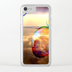 flying bubbles Clear iPhone Case