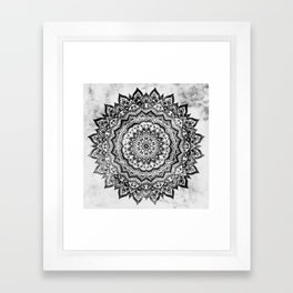 BLACK JEWEL MANDALA Framed Art Print