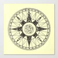 compass Canvas Prints featuring Compass by Smokacinno
