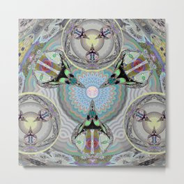 The Pure Land of Timeless Peace Tibetan Inspired Mandala Metal Print