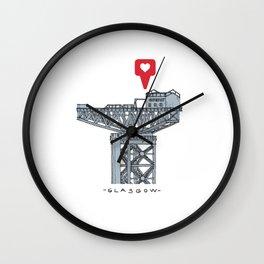 Glasgow, clydeport crane Wall Clock